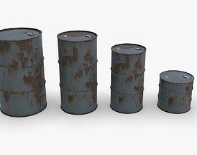 Chemical barrel 3D model game-ready