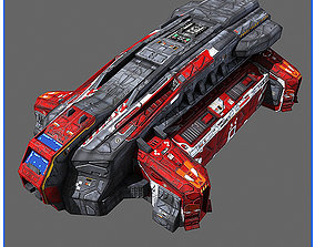 SciFi Army Human SpaceShips 02 3D asset