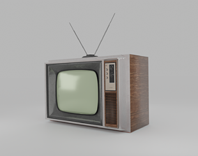 VR / AR ready Classic Television of the 90s - Low Poly 3D