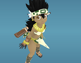 rigged Amazon 3D Cartoon Character Rigged
