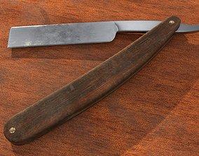 3D asset Old straight razor