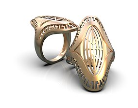 Openwork ring A0-300204 3D printable model silver