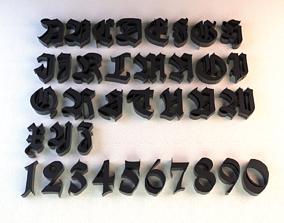 Thug Life Font 3D print model