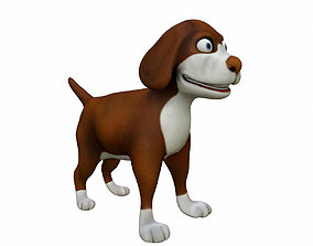 3D model Cartoon Dog domestic