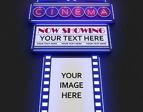 Movie Theater Marquee 3D model