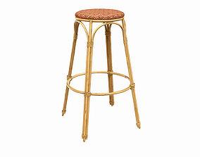 3D Bamboo bar stool chair