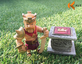 3D printable model clash of clan - barbarian king Statue