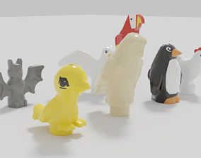 3D model Lego animals air