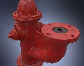 3D model Fire hydrant monitor nozzle