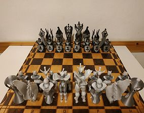 torre fantasy style chess 3D print model
