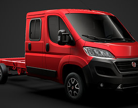 3D model Fiat Ducato Chassis Truck Crew Cab 4035WB 2020