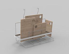 Kitchenware Wooden Element 3D asset