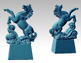 ornament 3D print model horse