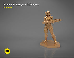 ELF RANGER FEMALE CHARACTER GAME 3D print model