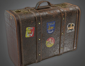 3D asset ATT - Old Brown Luggage 02 - PBR Game Ready