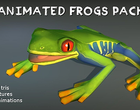 3D asset Animated Frogs Pack