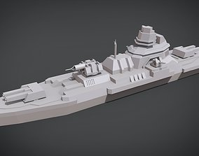 3D printable model Mini Exprimental destroyer