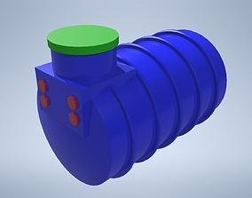 3D model game-ready Water tank 1500 L