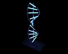 3D model PBR LED DNA Lamp