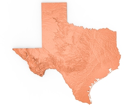 3D print model Texas Relief Map
