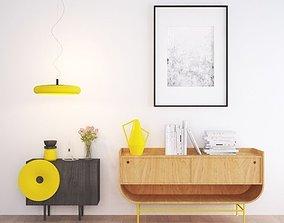 colourful furnitures set 3D model