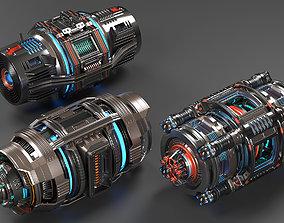 Sci Fi Mega Elements KITBASH - SUBDIVISION 3D model 3
