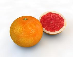3D asset Grapefruit