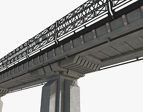 3D model Sci fi Bridge