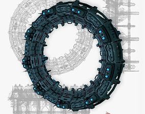 3D model Star gates 2 low poly