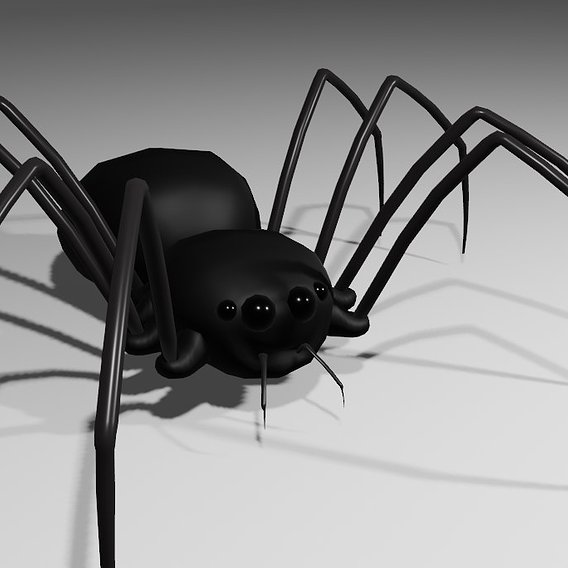 Spider - low poly