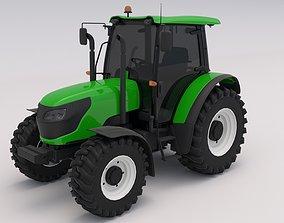 3D model Tractor Green