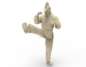 Chicken Front kick 3D printable model