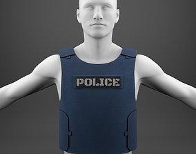 Flak Jacket bullet proof vest of police 3D model