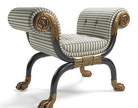 Regency Window Seat rare 3D model