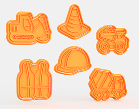 Construction building cookie cutter set of 3D print model