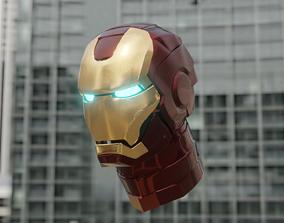 iron man helmet 3D model animated