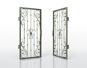 Metal Grille Gate 3D