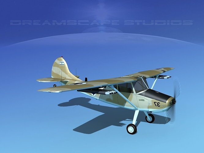 cessna-o-1e-l-19-bird-dog-israel-3d-mode