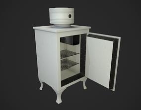 3D model Antique Fridge