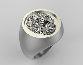 3D printable model Ring design with lion