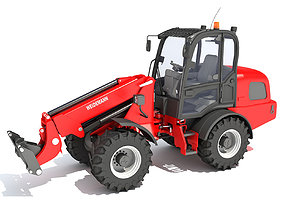 3D model Telescopic Wheel Loader Weidemann