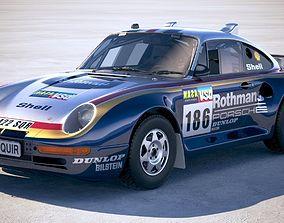 Porsche 958 Rothmans Rally 1985 3D