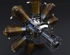 Rotary engine Gnome Monosoupape 3D