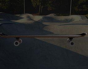 Low-Poly Textured Skateboard 3D asset