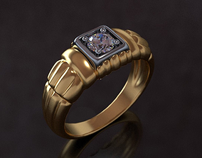 Mens ring 3D printable model jewelry