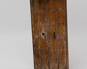Old wooden door 3D