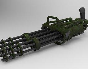 3D model Double machine gun