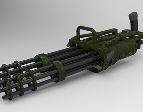 3D model Double machine gun