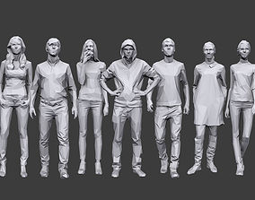 Lowpoly People Casual Pack Volume 12 3D asset low-poly