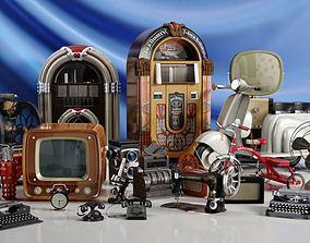 3D model Retro Furniture Collection